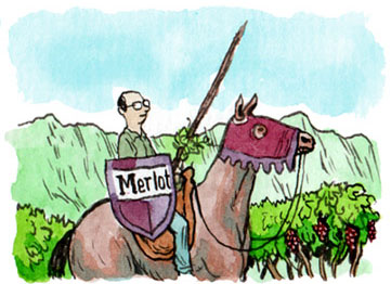 Chris Phelps defends Merlot in the Napa Valley
